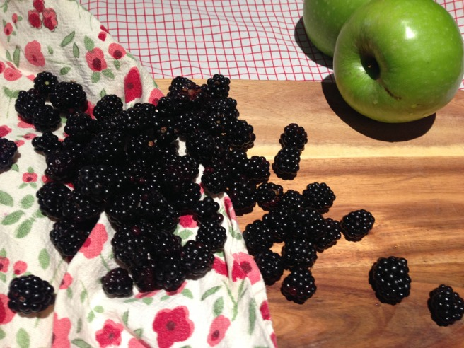 blackberries and apples