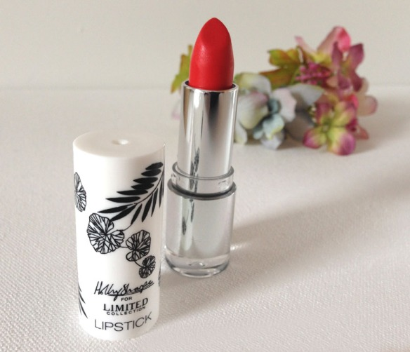 vibrant red M&S lipstick