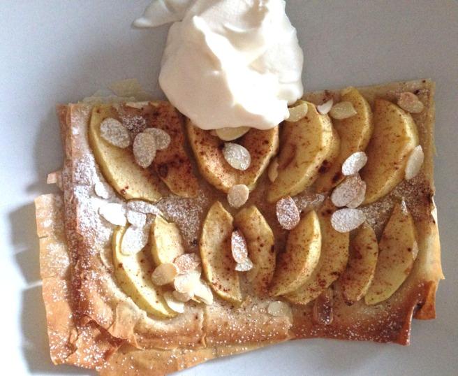 filo apple tart