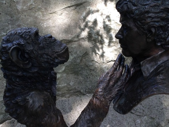 Monkey World memorial statue