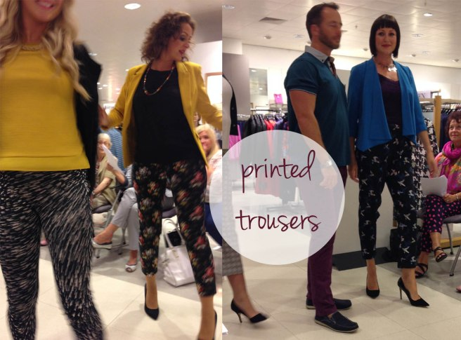 printed trousers trend
