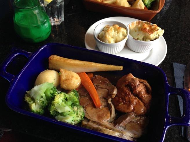 Roast dinner Manchester Blue Pig