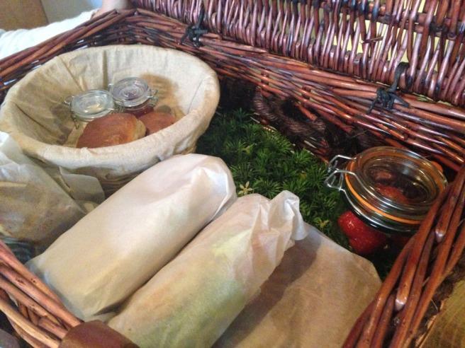 picnic basket afternoon tea