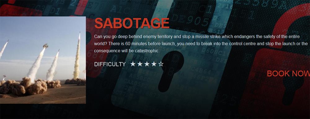 Breakout manchester sabotage room