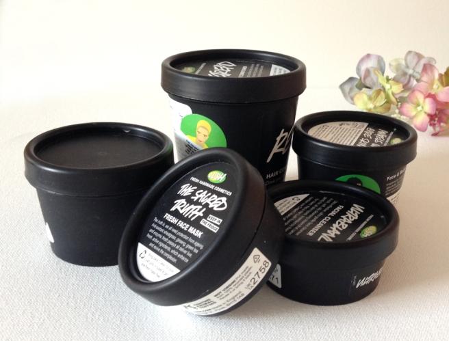 5 empty Lush pots