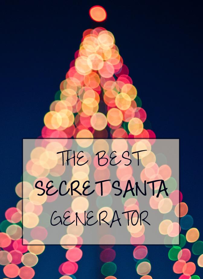 The best SECRET SANTA generator