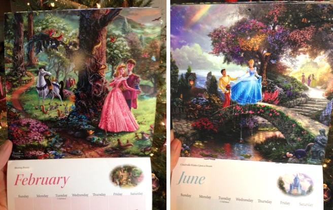 kinkade disney calendar