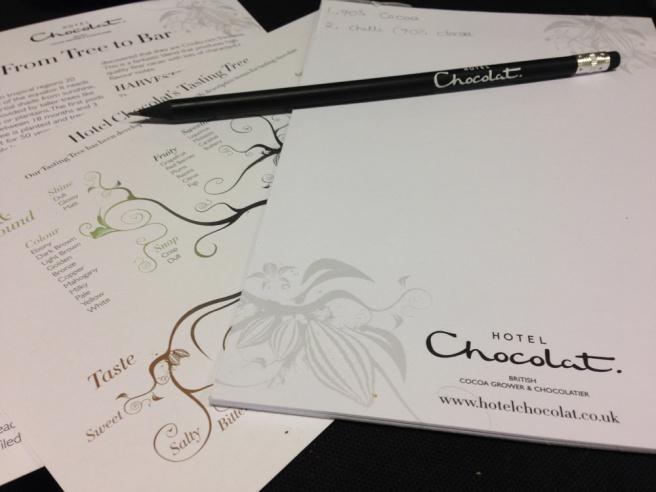 Hotel Chocolat chocolate tasting adventure