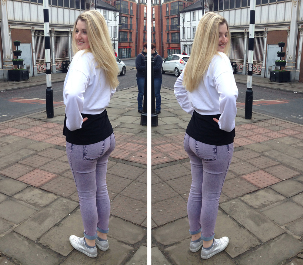 lilac jeans