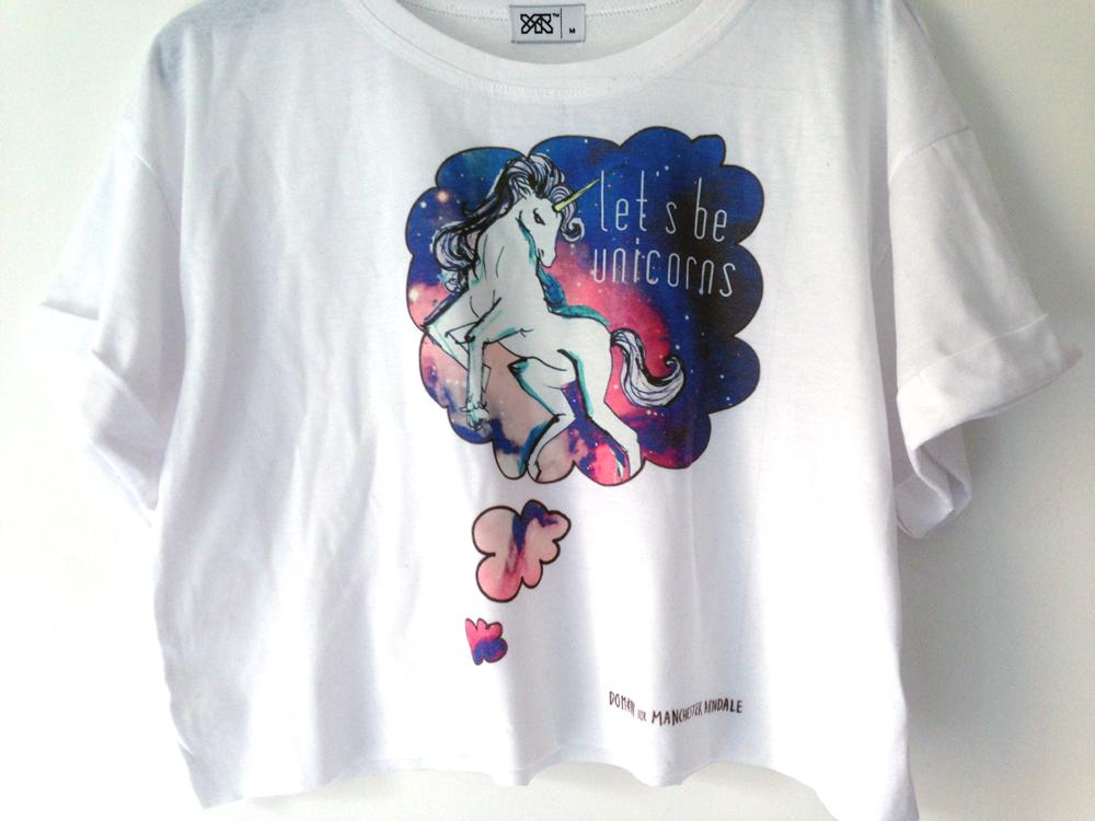 Illustrated unicorn tee