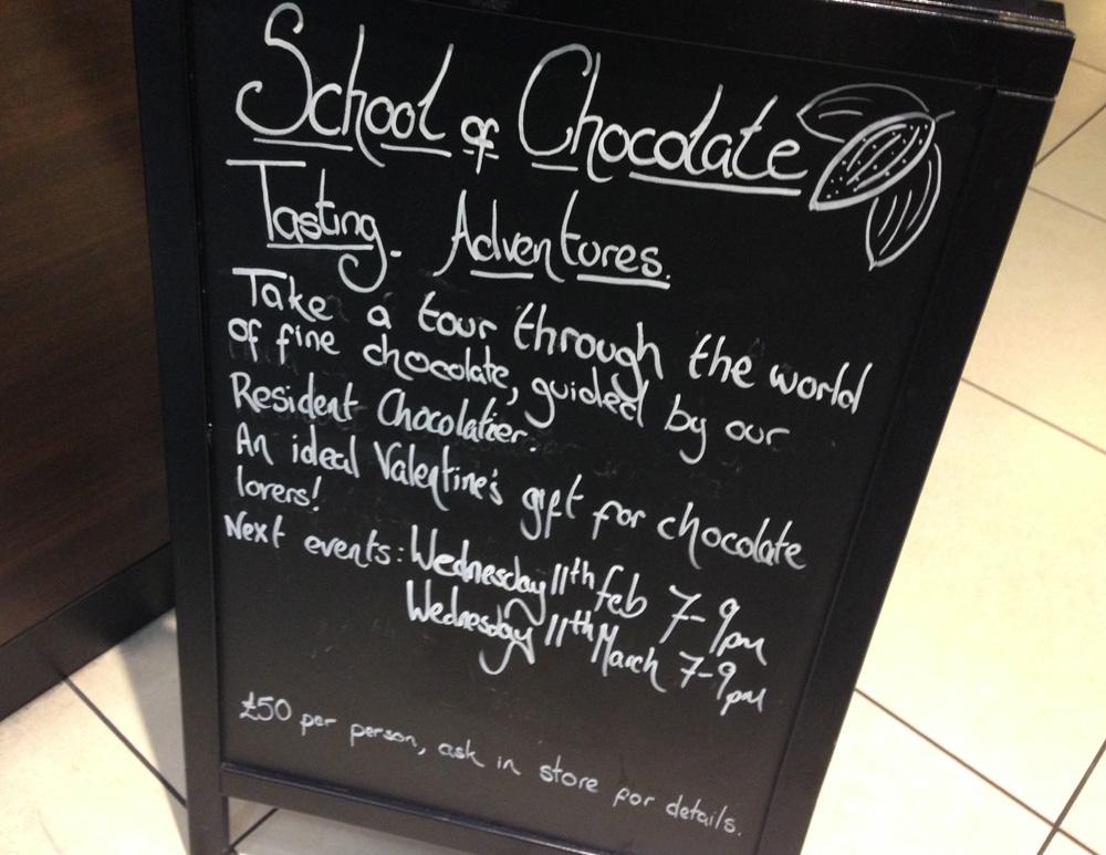 Hotel Chocolat chocolate tasting