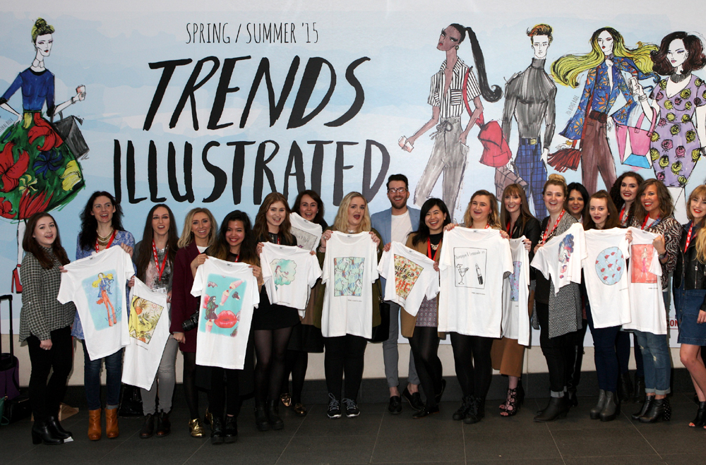 Fashion Illustrated at Manchester Arndale group shot