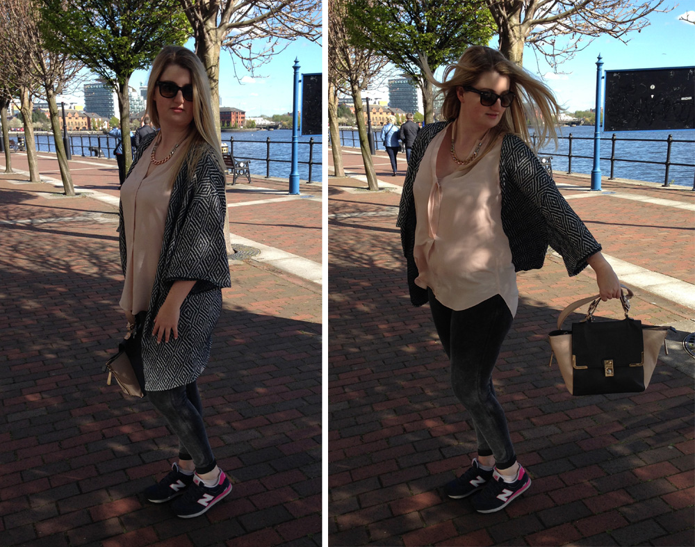 blush pink and monochrome spring layers