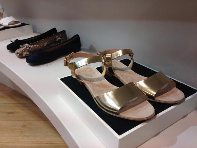 Hobbs gold sandals