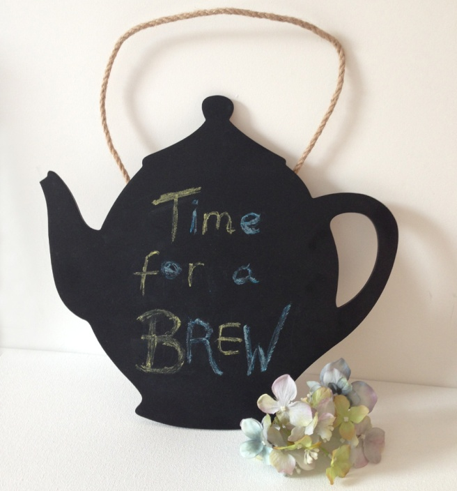 teapot chalkboard