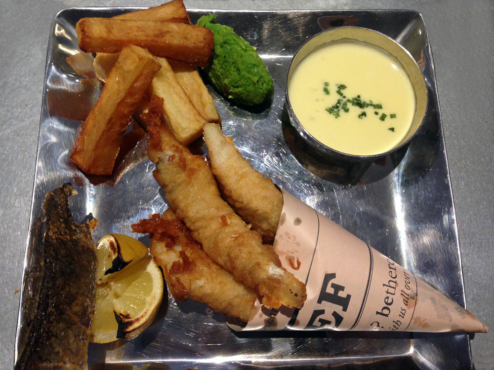 Posh fish and chips
