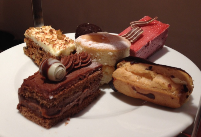 Patisserie Valerie afternoon tea cakes