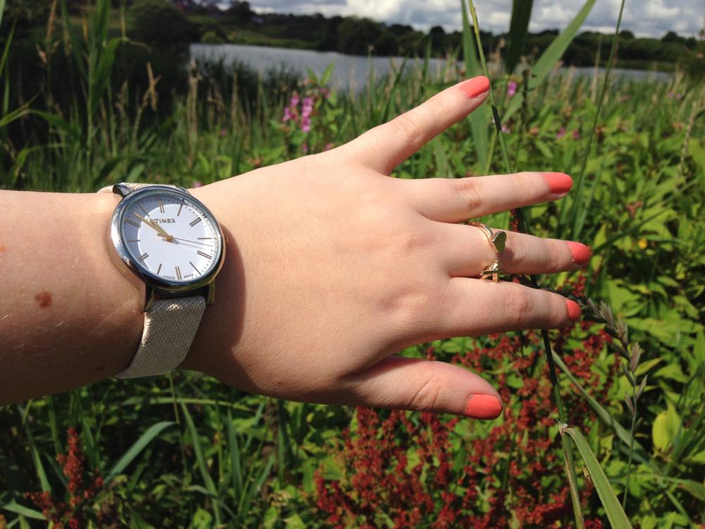 Timex classic linen watch