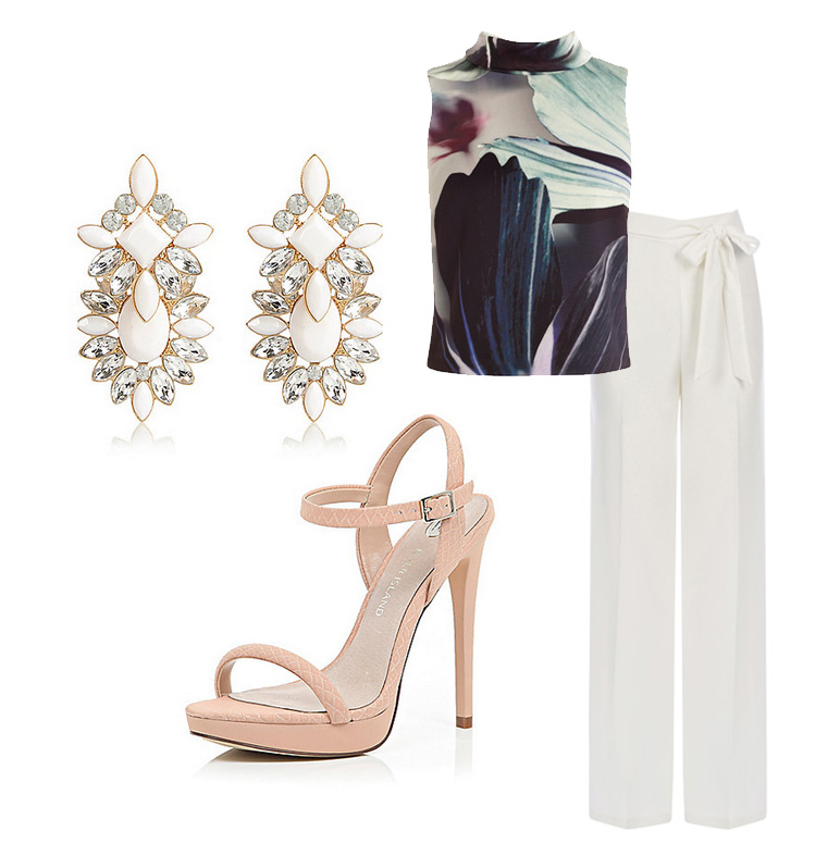Wedding outfit with trousers