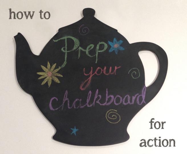 chalkboard preparation