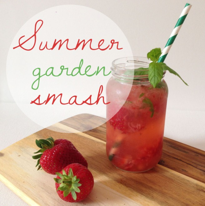 summer garden smash cocktail