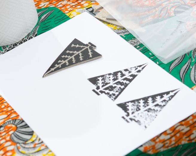 Handmade Fair lino print