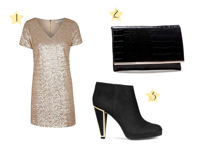 Party look: Sequin mini dress