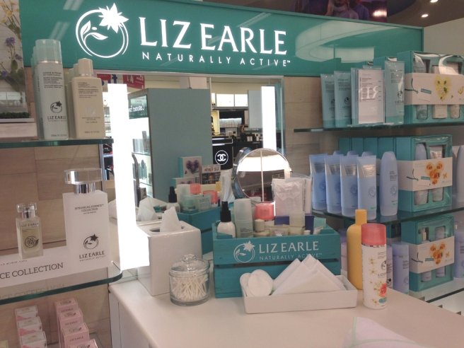 Liz Earle counter