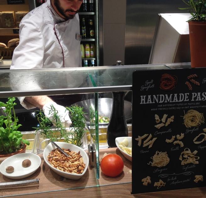 Vapiano restaurant freshly cooked pasta