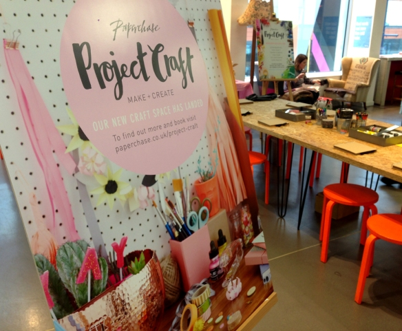 Paperchase craft workshops Manchester
