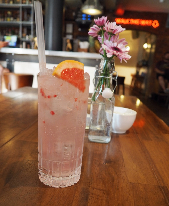 The Long Pink Stick gin cocktail