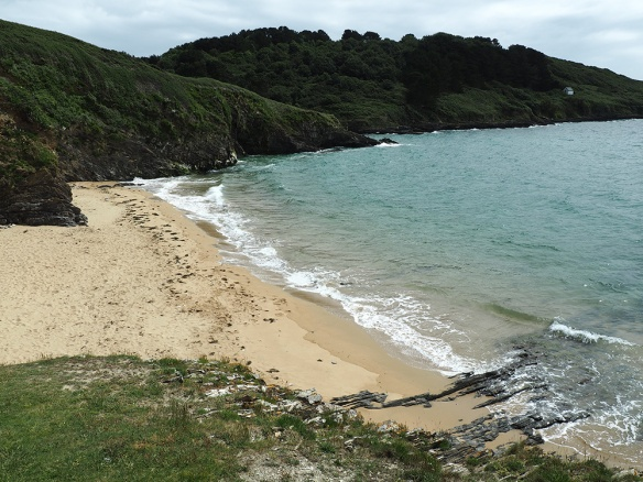 Secluded Cornwall beach