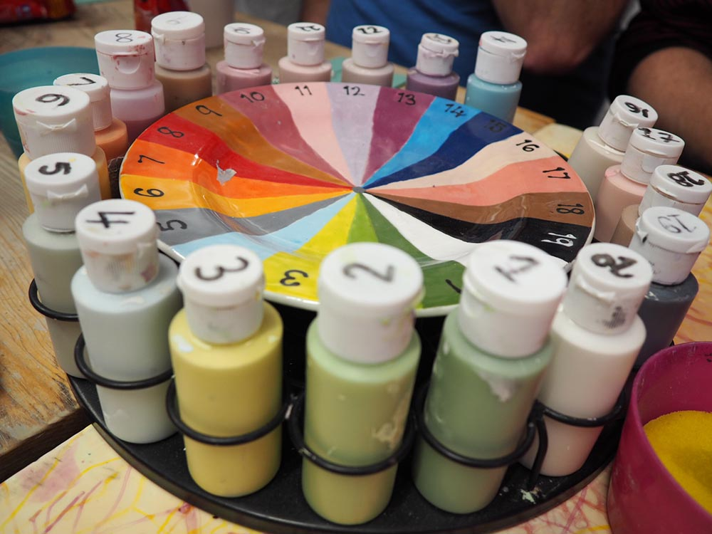 Pottery painting colour wheel