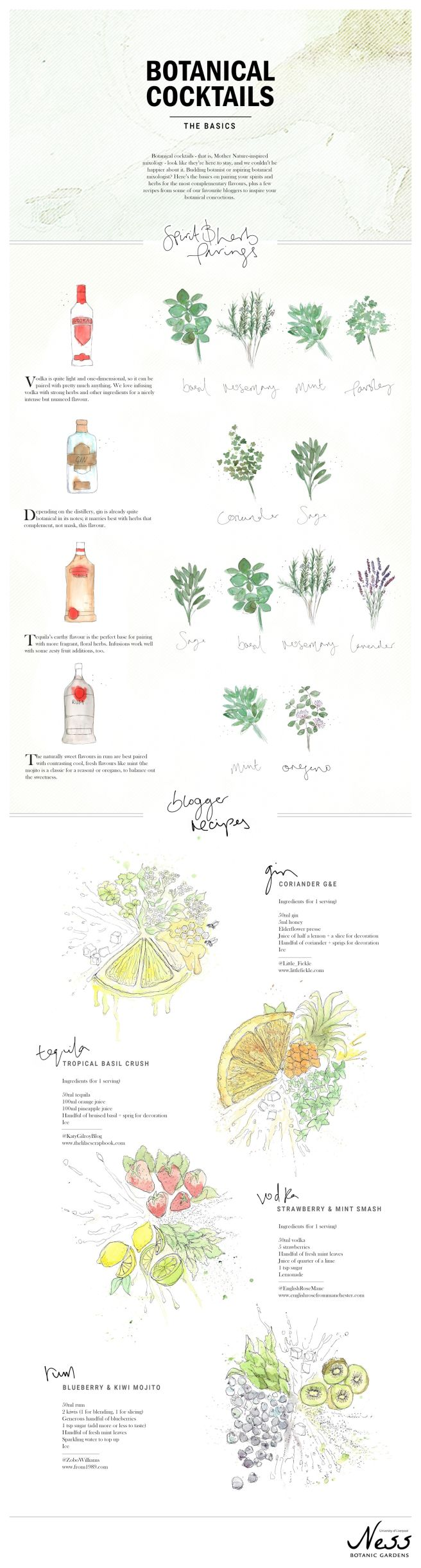 Botanical cocktail guide