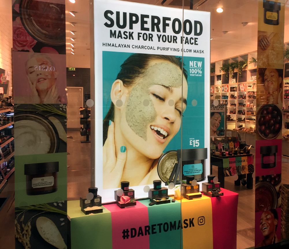 Body Shop superfood face masks