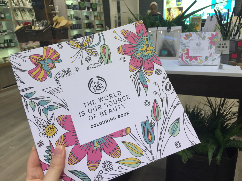 Body Shop free colouring book