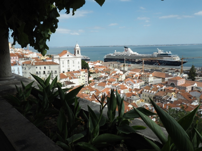 Lisbon Alfama district view