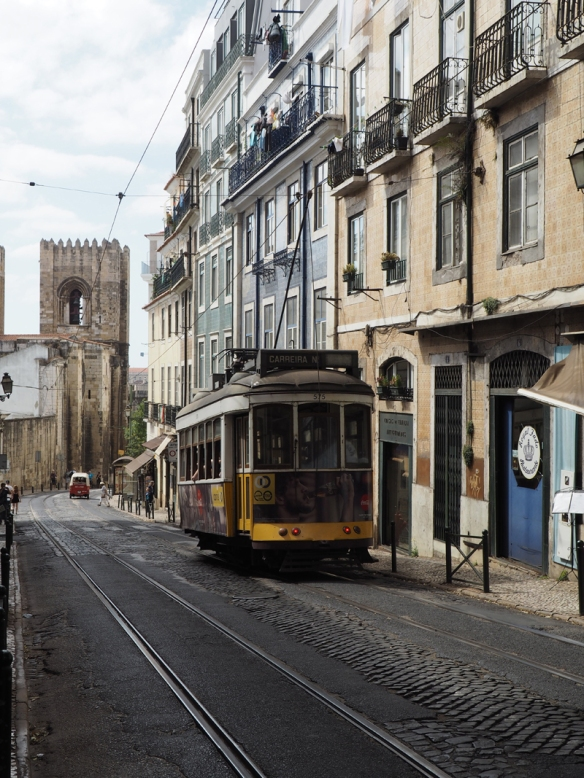 Lisbon Alfama district tram 28