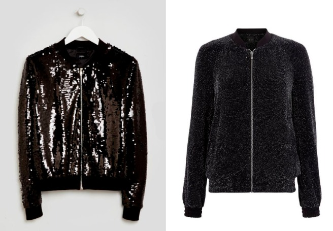AW16 sparkly bomber jacket
