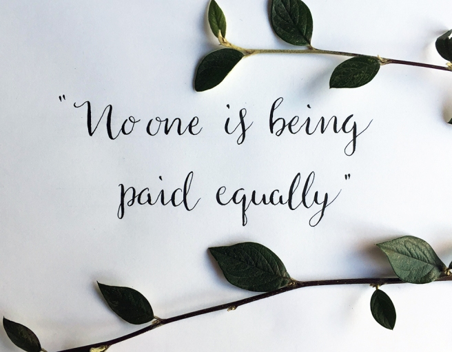 No one is being paid equally