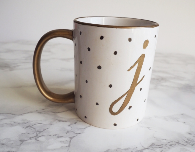 Monogram sharpie mug