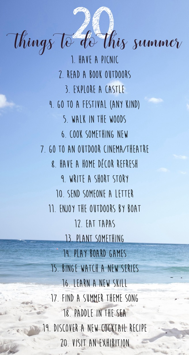 20 things to do this summer