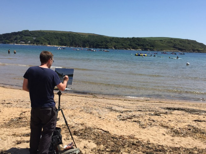 Artist on Salcombe South Sands