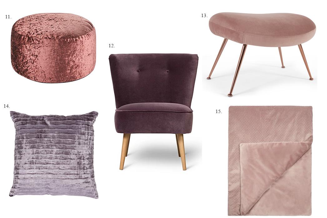 Velvet home accessories