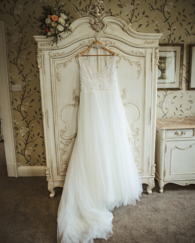 Wedding dress still life shot