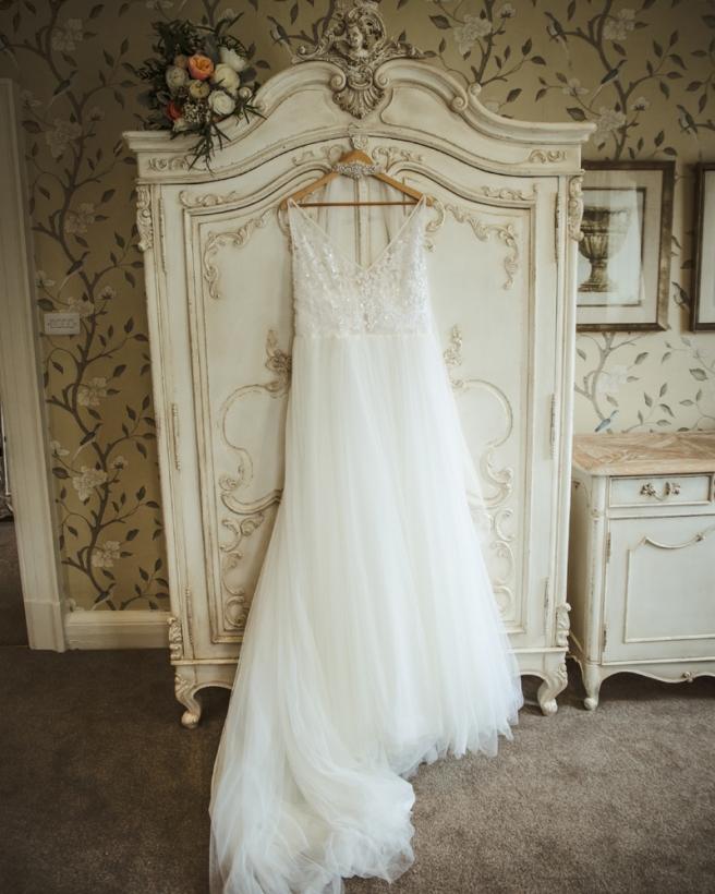 Wedding dress still life shot