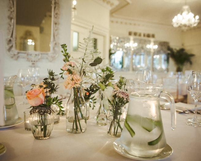 Jam jar wedding tables