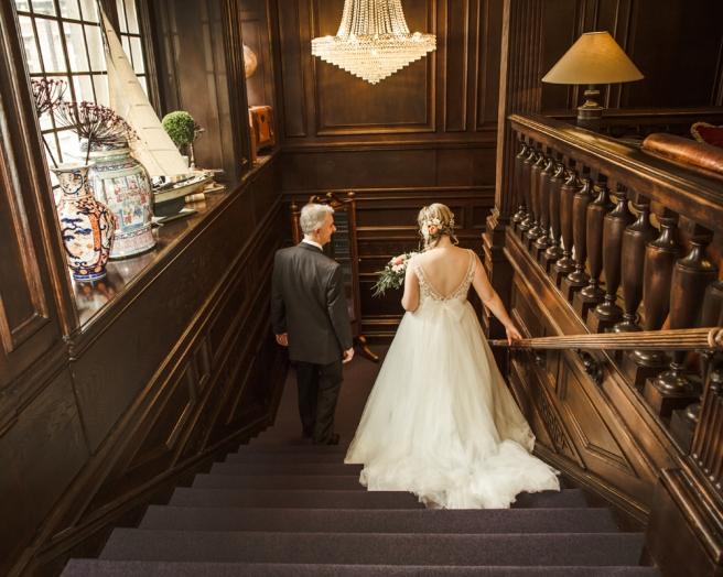 Wedding day Eaves Hall