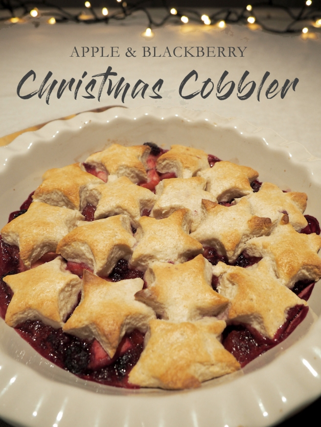 Apple and Blackberry Christmas cobbler recipe