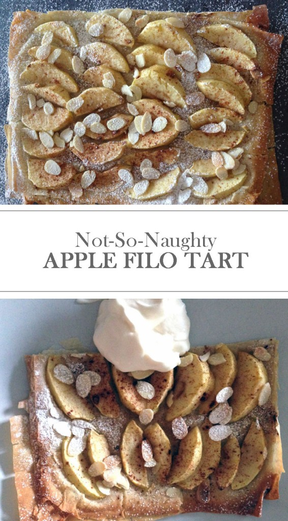 Not so naughty Apple Filo Tart recipe